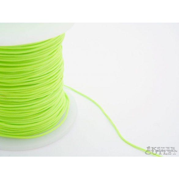 Shamballa fonal. Nylon fonal. 1mm. Uv zöld.   90m/db.