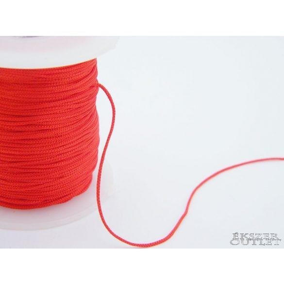 Shamballa fonal. Nylon fonal. 1mm. Piros.   90m/db.