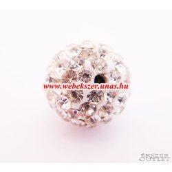 Shamballa gyöngy. Kristály gyöngy. 12mm. Kristály.  10db.