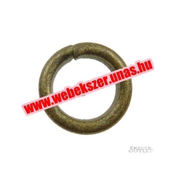Fém karika. 0.90x5mm. Antik bronz. 100db.