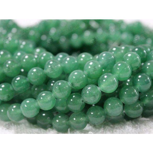 Ásványgyöngy, féldrágakő gyöngy. 8mm.  Zöld aventurin.  1 szál (Kb. 40cm).
