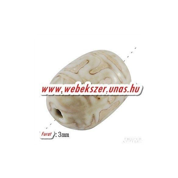 Porcelán gyöngy.  20x15mm.  10db/csomag.