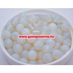 Ásványgyöngy, féldrágakő, ékszer gyöngy. Opalit. 12mm. 1 szál. (kb. 40cm)