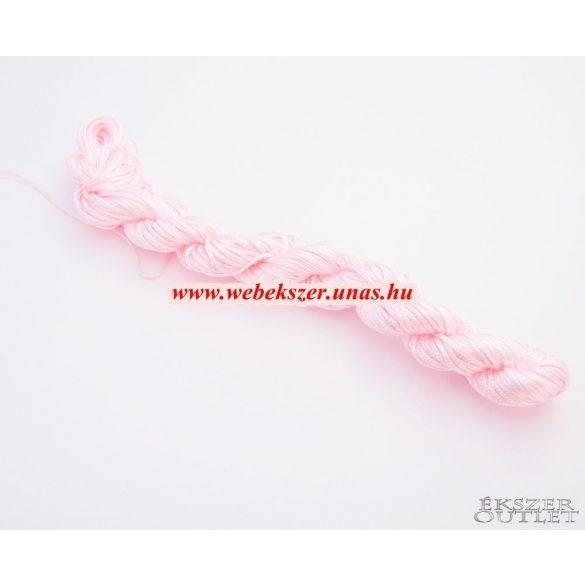 Shamballa fonal. Nylon fonal. 1mm. 25m. Rózsaszín.   Legjobb ár!