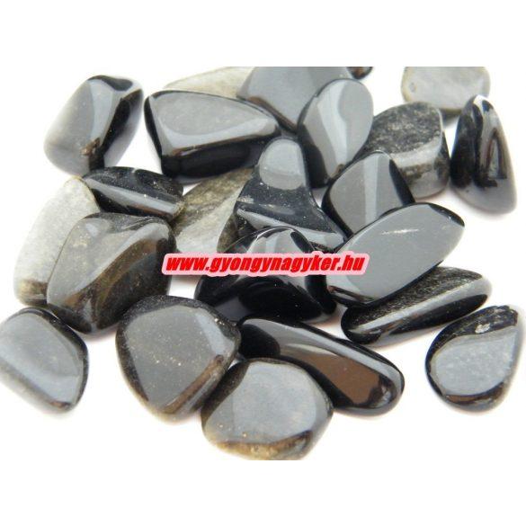 Obszidián ásvány marokkő. 100 gramm/csomag.