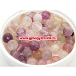 Ásványgyöngy, féldrágakő, ékszer gyöngy. Fluorit. 12mm.  1 szál (kb. 40cm).