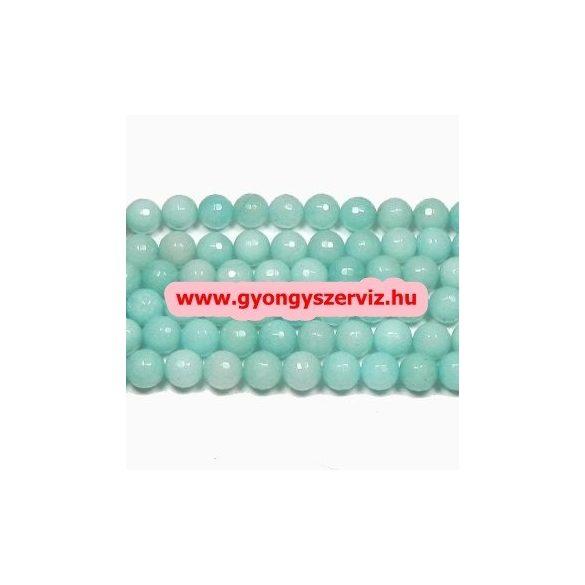 Ásványgyöngy, féldrágakő gyöngy. Amazonit.  6mm.  1 szál (40cm).