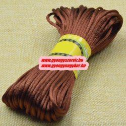 Poliészter fonal. 2.5mm. Csokoládé. 10m/db.