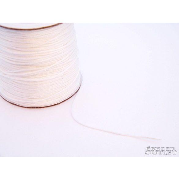 Shamballa fonal. Nylon fonal. 0.8mm. Fehér.   90m/db.
