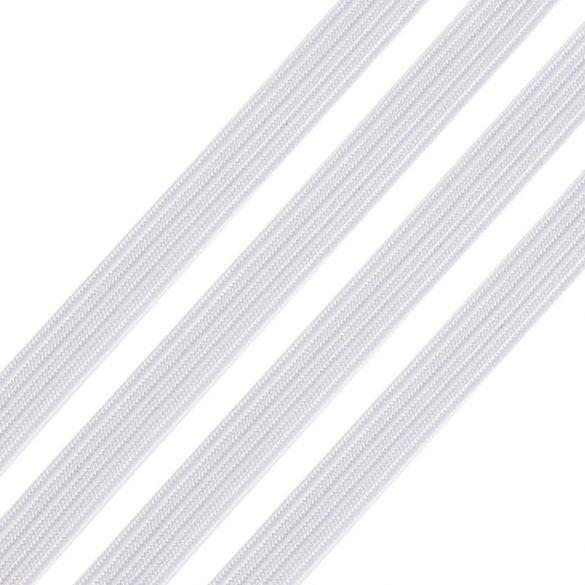 Gumipertli, gumiszalag. 6mm. Fehér. 184m/tekercs.