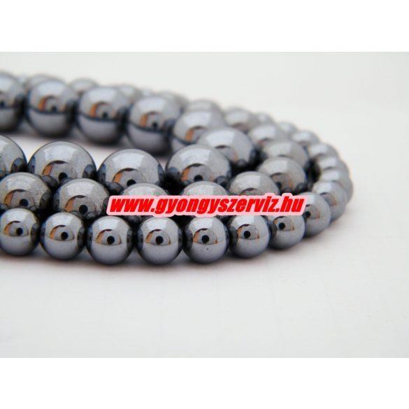 Szilícium ásványgyöngy. 6mm. 1 szál. (kb. 40cm)