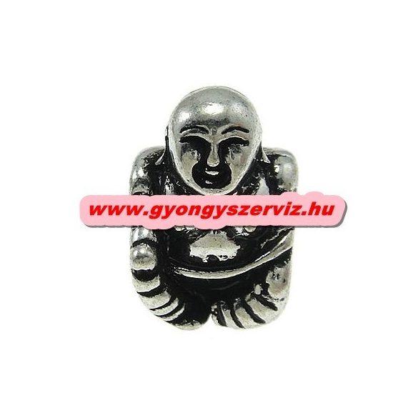 Pandora stílusú fémgyöngy. Charm. Buddha. 10x14x11mm.  10db.