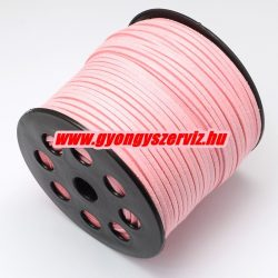 Velúr zsinór. 2.7x1.4mm. Csillogó rózsaszín. 90m/db.
