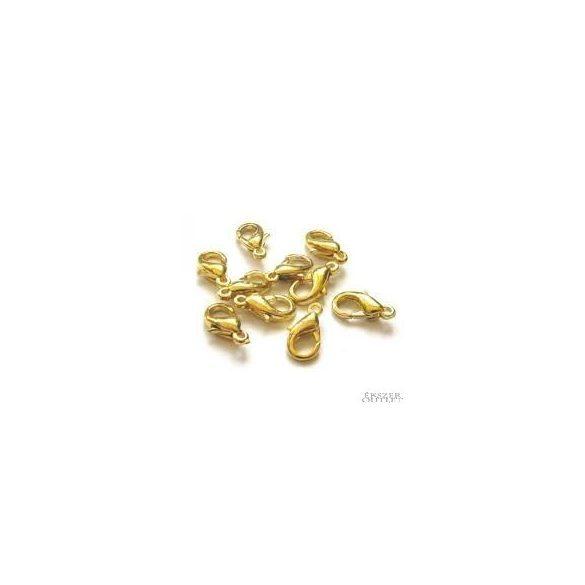 Delfin zár. Ékszer kapocs. 6x11.80x3.20mm.   Platina, arany, vagy antik bronz színben!   20db.