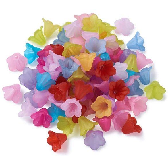 Matt akril virág gyöngy. 12 színben. 50gramm/ csomag.