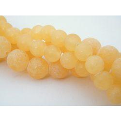 Narancs kalcit, ásványgyöngy. 10mm. Matt. 1 szál, kb. 40cm.